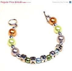 7645d2ff2636 Christmas in July Pearls Faith Bracelet CIJ Sale by. LinorStore Jewelry