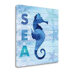 """""""Sea Glass Seahorse"""" By Studio Bella, Fine Art Giclee Pri..."""