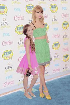 Maddie and Taylor at the TCAs