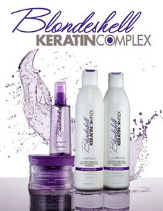Perfect for all blonde and gray shades, from natural to highlighted, the Keratin Complex Blondeshell collection debrasses and brightens all hair types. Blonde, gray and silver tones stay bright and radiant, thanks to a fade-fighting chamomile complex and strengthening blend of keratin, vitamins and botanical oils. The entire Blondeshell collection is formulated without parabens, sulfates or sodium chloride for healthier hair and bold, true col