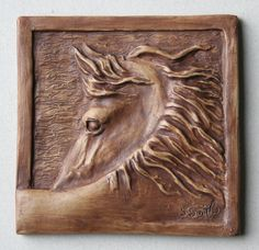 horse tile 2-  3.75 x 3.75 Comes in different colors