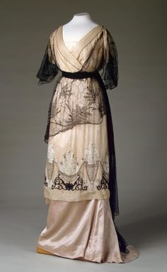 Fripperies and Fobs — Evening dress, 1910's From the State Hermitage...