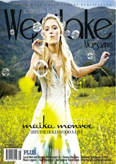 "Spring 2012 Issue of WESTLAKE Magazine featuring actress Maika Monroe - Wearing London Manori ring.    Maika Monroe plays the love interest of actor Zac Efron in the upcoming film ""At Any Rate"" alongside Heather Graham and Dennis Quaid."
