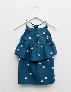 Creatures of Comfort Lil Nora Dress- Pom Pom Print Teal