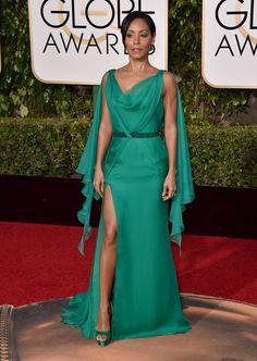 Jada Pinkett Smith. De Versace y sandalias de Jimmy Choo. Foto: Gtres Online.