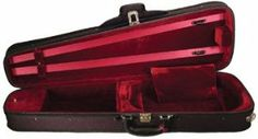 """Christino Shaped Viola Suspension Case 15.5"""" - Red by Christino. $90.00. CHRISTINO Shaped Viola Case is a dart-shaped plywood case that is loaded with features at a competitive price.  The multi-layered plywood is very durable; offering your instrument better protection while also allowing for the smaller, compact design.   The black fabric exterior with black trim comes with four re-enforced D rings and two straps that allows for a choice of shoulder or backpack carrying.  ..."""