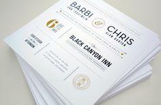 B Wedding Invites by Chad Michael, via Behance