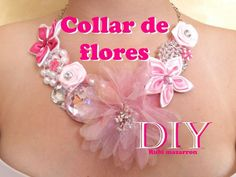Diy. Collar de flores super de moda