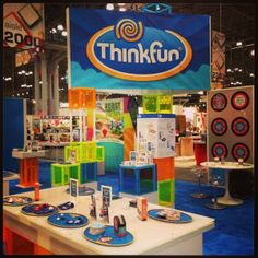 Thinkfun booth at Toy Fair