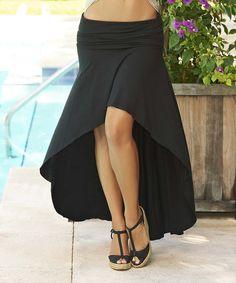High low black skirt, fun, flirty