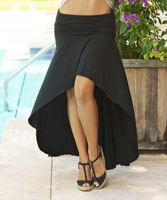 Beautiful Black High Low Skirt