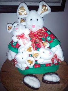 Enseñar diversos temas Xmas, Christmas Ornaments, Reno, Teddy Bear, Holiday Decor, Animals, Mice, Home Decor, Doll