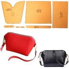 レザークラフト 硬質紙製 型紙 革 財布 バッグ カバン 説明シート付き (クラムシェル) Handbags For Men, Purses And Handbags, Leather Handbags, Leather Wallet, Backpack Pattern, Wallet Pattern, Leather Bags Handmade, Handmade Handbags, Leather Bag Pattern
