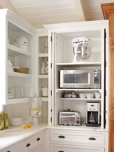 Look at shelf adjustment Clever Kitchen Storage Ideas For The New Unkitchen - laurel home