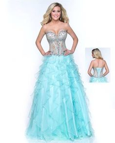Shine like never before in this evening gown from Joli Prom This dress is strapless with a pronounced sweetheart shape and corset-style bodice. Grad Dresses, Formal Dresses, Prom 2014, Evening Gowns, Corset, Bodice, Graduation 2015, Pretty, Dress Ideas