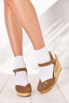 d250dd0af1c Seychelles Good Fun Wedge Sandal Cute Socks