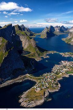 Reinefjord Aerial Lofoten Islands Norway by Douglas Stratton on 500px