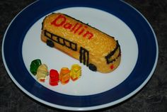 Twinkie School bus, I am going to try evil twin gummies or sour patch kids inplace of the bears.