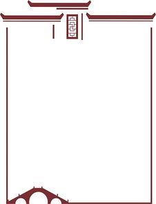 安徽徽派建筑边框简图
