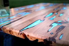 Learn How To Make An Impressive Glow In The Dark Table