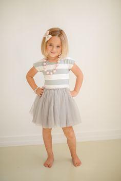 Taylor Joelle Designs Sea Me Twirl Tutu Dress - Gray