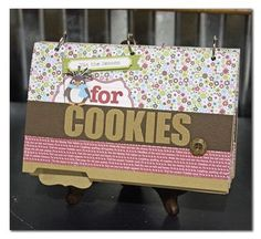 file folder cookie recipe book.  so cute!