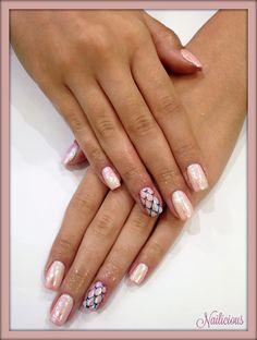 Pink Pixel nails