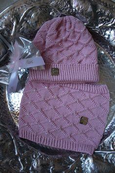 Kindermütze und Schal GLORIOUS rosa 50/52 cm