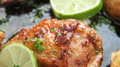 Crispy fried chicken tossed in a delicious honey butter sauce! This crunchy honey chicken will impress all of your friends and family. Honey Chicken Thighs, Honey Lime Chicken, Chicken Thigh Recipes, Fried Chicken Recipes, Ultimate Fried Chicken Recipe, Chicken Thigh Seasoning, Lime Marinade For Chicken, Crispy Fried Chicken, Roasted Chicken