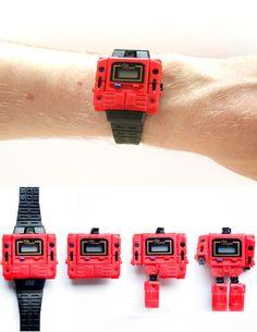 Transformer watch, tuve este reloj hace 24 años y lo amaba!!!! Hahaha