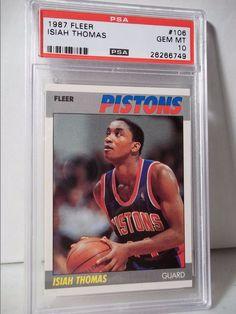 1987 Fleer Isiah Thomas PSA Gem Mint 10 Basketball Card #106 NBA Collectible #DetroitPistons
