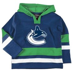 Old Time Hockey Vancouver Canucks Toddler Glider Hoodie - Royal Blue