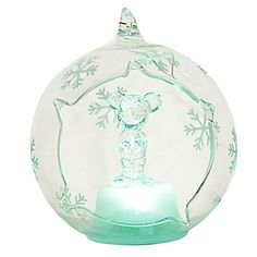 Arribas Glass Collection, Mickey Mouse Christmas Decoration