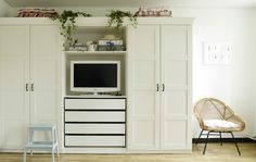 Yvonne's wardrobe with built-in TV cove, shelves, and drawers is the perfect…