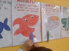 Filastrocca della settimana dello squalo Routine, Kindergarten, Classroom, Teaching, Activities, Children, School, Weather, Toddlers