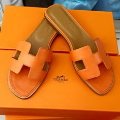 103c88063e8d Hermes H Orange Color Slipper--To order contact with us