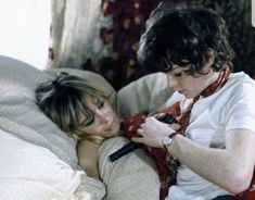 Anita with Michele Breton in Performance 1968 Let It Bleed, Anita Pallenberg, Marianne Faithfull, She Walks In Beauty, Rock N Roll Music, Keith Richards, Mick Jagger, Books To Buy, 50th Anniversary