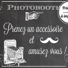 Affiche photobooth à imprimer