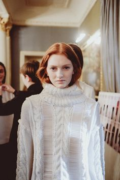 Webbed knits backstage at Pringle AW14 LFW. More images here: http://www.dazeddigital.com/fashion/article/18886/1/pringle-of-scotland-aw14