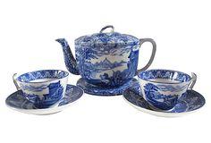 Cauldon Transferware Tea Set, 4 Pcs on OneKingsLane.com AMAZING..NEVER SEEN THIS PATTERN...LOVE