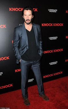 Party on: Keanu Reeves, seen at the Knock Knock premiere in Hollywood in…