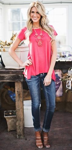 Spring Tunic Tee - 10 Colors {Jane Deals}