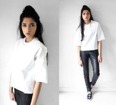 H&M Trousers, Ebay Pleather Tshirt - PLEATHER X PLEATHER - Yatri P