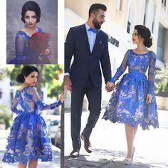 Free shipping, $107.93/Piece:buy wholesale vestidos de festa Lace Appliques Blue…