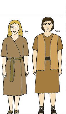 Flanelplaat Adam en Eva