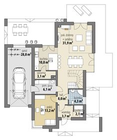 Arystoteles Facade House, Home Fashion, Bungalow, My House, Floor Plans, House Plans, House Design, Flooring, Contemporary
