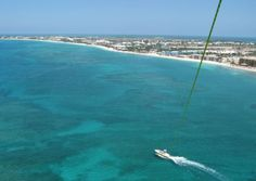 Parasailing, Cayman Islands