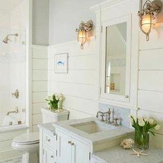 Cottage Bathroom, Cottage, bathroom, Jillian Klaff Homes
