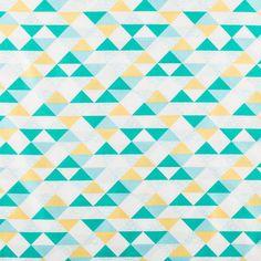 Sunny Day Triangles Cotton Calico Fabric