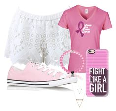 """""""Think pink"""" by emilytheunicorn1 ❤ liked on Polyvore featuring Alexis, Converse, Casetify and bca"""